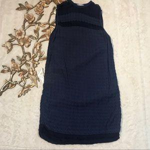 DVF Color Block Silk Blend Sleeveless Dress 14